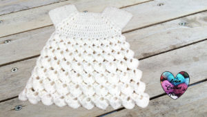 Robe relief crochet tutoriel gratuit DIY Lidia Crochet Tricot