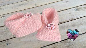 Chaussons tricot débutant Lidia Crochet Tricot