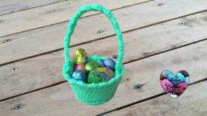 Tutoriels crochet Panier de Pâques crochet fait main tutoriel DIY Lidia Crochet Tricot