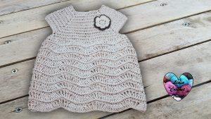 Robe vagues en relief au crochet tutoriel gratuit DIY Lidia Crochet Tricot