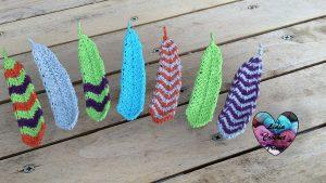 Plumes crochet tunisien facile tutoriel DIY Lidia Crochet Tricot
