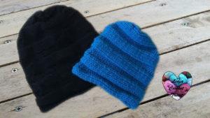 Tutoriels tricot Bonnet unisex tombant tricot facile fait main tutoriel DIY Lidia Crochet Tricot