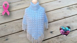 Poncho point fleuri crochet DIY Lidia Crochet Tricot