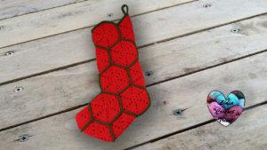 Botte de Noël hexagones Lidia Crochet Tricot
