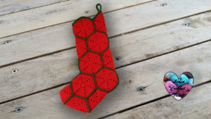 Botte de Noël hexagones crochet DIY Lidia Crochet Tricot