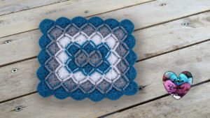 Point bavarian rectangulaire Lidia Crochet Tricot