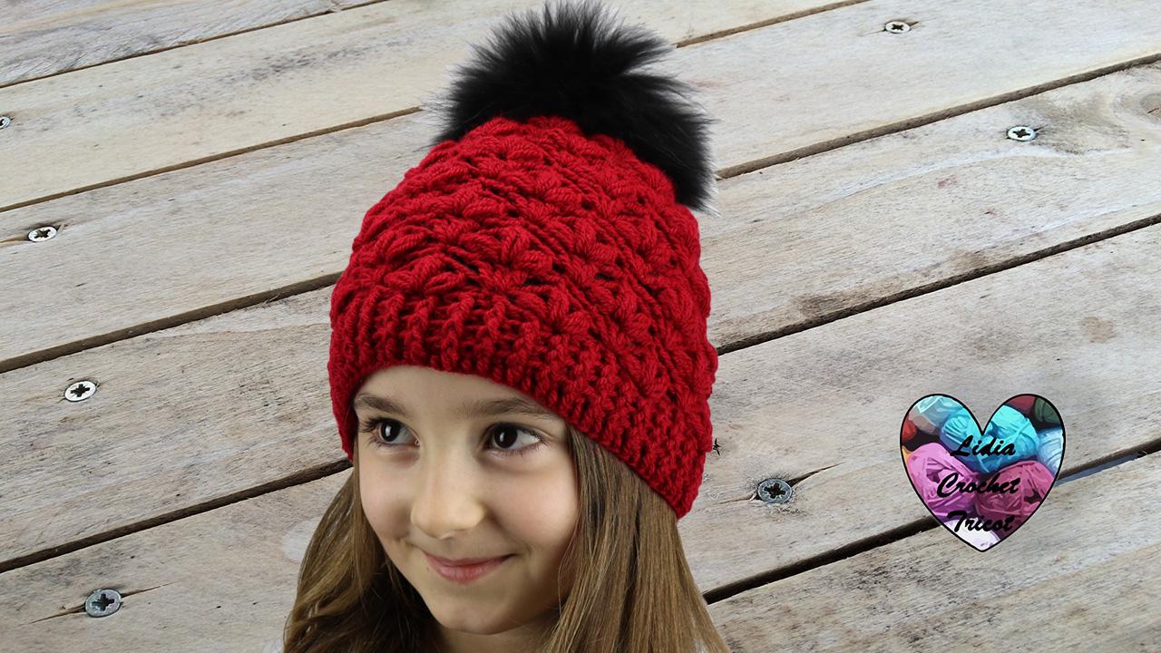 Bonnet point fleuri. Botte de Noël hexagones crochet DIY Lidia Crochet  Tricot bb68c509f3c