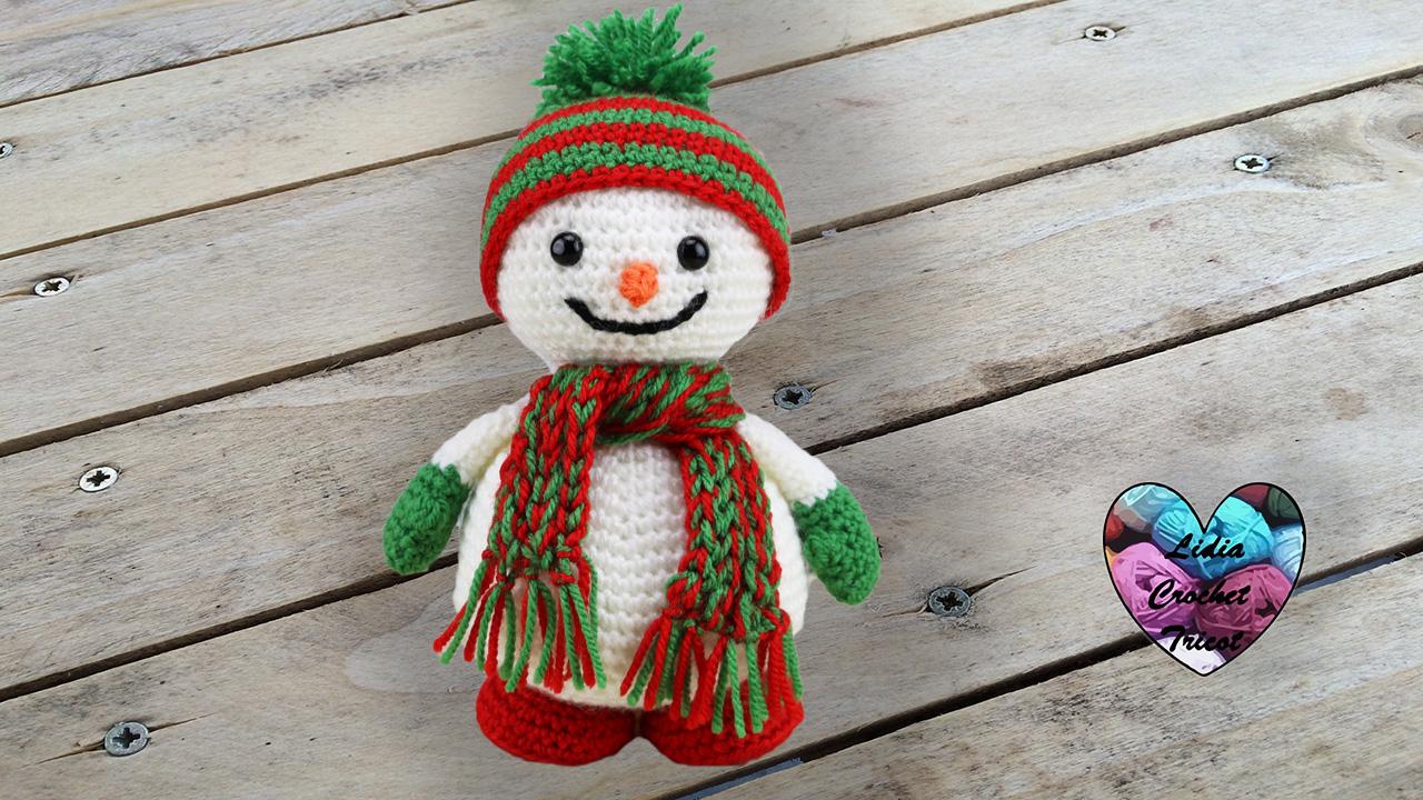 Bonhomme de neige tutoriel au crochet pr sent par lidia crochet tricot - Doudou facile a realiser ...
