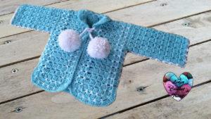Tutoriels crochet Gilet bébé crochet fait main tutoriel DIY Lidia Crochet Tricot
