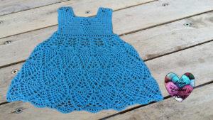 Tutoriels crochet Robe fille ananas crochet fait main tutoriel DIY Lidia Crochet Tricot
