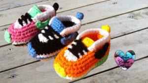 Tutoriels crochet Baskets chaussures Nike crochet fait main tutoriel DIY Lidia Crochet Tricot