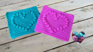 Tutoriels crochet Granny coeur puff crochet fait main tutoriel DIY Lidia Crochet Tricot