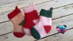 Tutoriels crochet Chaussettes de Noël crochet fait main tutoriel DIY Lidia Crochet Tricot