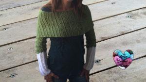 Tutoriels crochet Echarpe avec manches crochet fait main tutoriel DIY Lidia Crochet Tricot