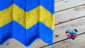 Points tricot Point zig zag tricot facile fait main tutoriel DIY Lidia Crochet Tricot