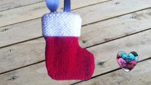 Tutoriels tricot Bottes de Noël tricot facile fait main tutoriel DIY Lidia Crochet Tricot