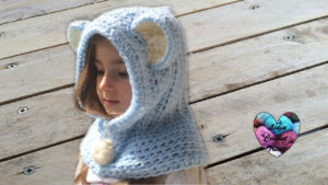 Tutoriels crochet Bonnet capuche ours oreilles d'animaux crochet fait main tutoriel DIY Lidia Crochet Tricot