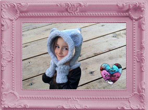 Capuche ourson oreilles animaux tricot fait main tutoriel DIY