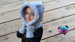 Tutoriels tricot Bonnet capuche ours oreilles d'animaux tricot facile fait main tutoriel DIY Lidia Crochet Tricot