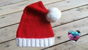 Tutoriels tricot Bonnet père Noël tricot facile fait main tutoriel DIY Lidia Crochet Tricot