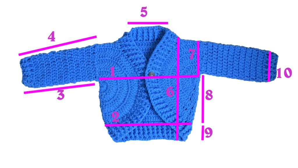 Haut comment calculer les tailles crochet tricot bébé Lidia Crochet Tricot