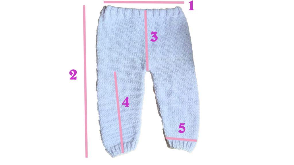 Pantalon comment calculer les tailles crochet tricot bébé Lidia crochet Tricot