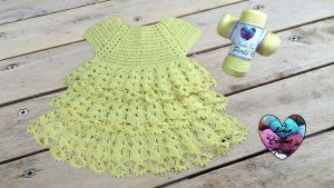 Robe volants tutoriel gratuit DIY Lidia Crochet Tricot