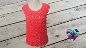 Blouse top femme tutoriel gratuit DIY Lidia Crochet Tricot