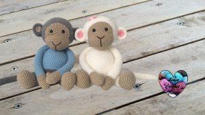 Singes amigurumi tutoriel gratuit DIY Lidia Crochet Tricot