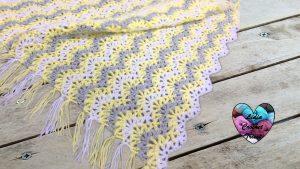 Couverture zig zag tutoriel gratuit DIY Lidia Crochet Tricot