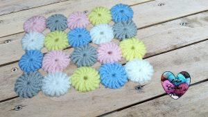 Pastilles fleurs couverture tutoriel gratuit DIY Lidia Crochet Tricot