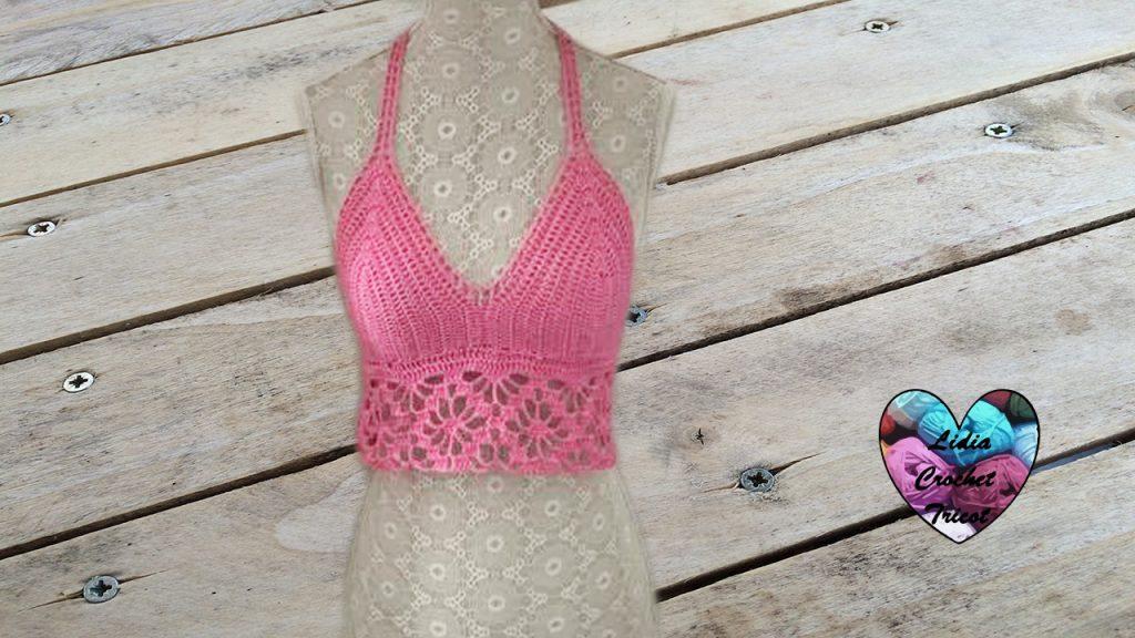 Halter top au crochet tutoriel gratuit DIY Lidia Crochet Tricot