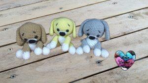 Chiots amigurumi au crochet tutoriel gratuit DIY Lidia Crochet Tricot
