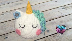 Coussin licorne au crochet tutoriel gratuit DIY Lidia Crochet Tricot