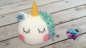 Coussin licorne Lidia Crochet Tricot