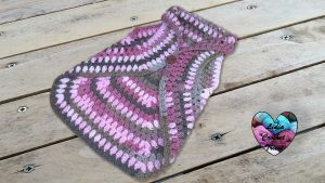 Gilet mandala point ananas au crochet tutoriel gratuit DIY Lidia Crochet Tricot