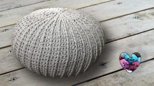 Pouf trapilho tendance au crochet tutoriel gratuit DIY Lidia Crochet Tricot