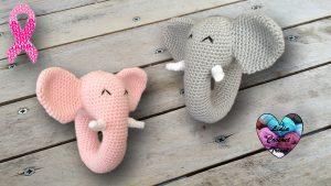 Jouet bébé éléphant DIY Lidia Crochet Tricot