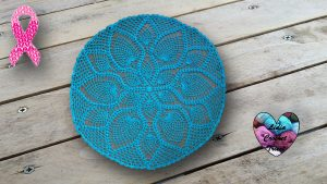 Nappe napperon point ananas DIY Lidia Crochet Tricot