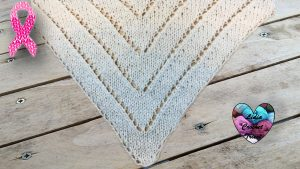 Châle triangles DIY Lidia Crochet Tricot