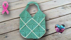 Sac carrées crochet DIY Lidia Crochet Tricot
