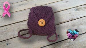 Sac a dos trapilho Lidia Crochet Tricot