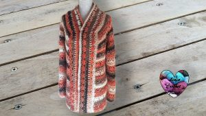 Cardigan motifs fleurs crochet DIY Lidia Crochet Tricot