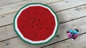 Tapis pastèque trapilho crochet DIY Lidia Crochet Tricot