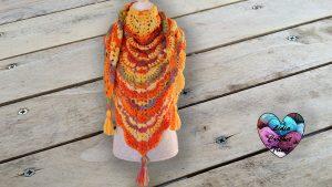 Châle automne crochet DIY Lidia Crochet Tricot