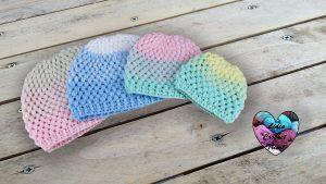 Bonnet dégradé crochet DIY Lidia Crochet Tricot