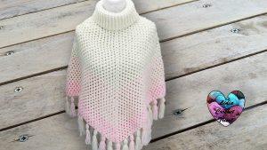 Poncho dégradé crochet DIY Lidia Crochet Tricot