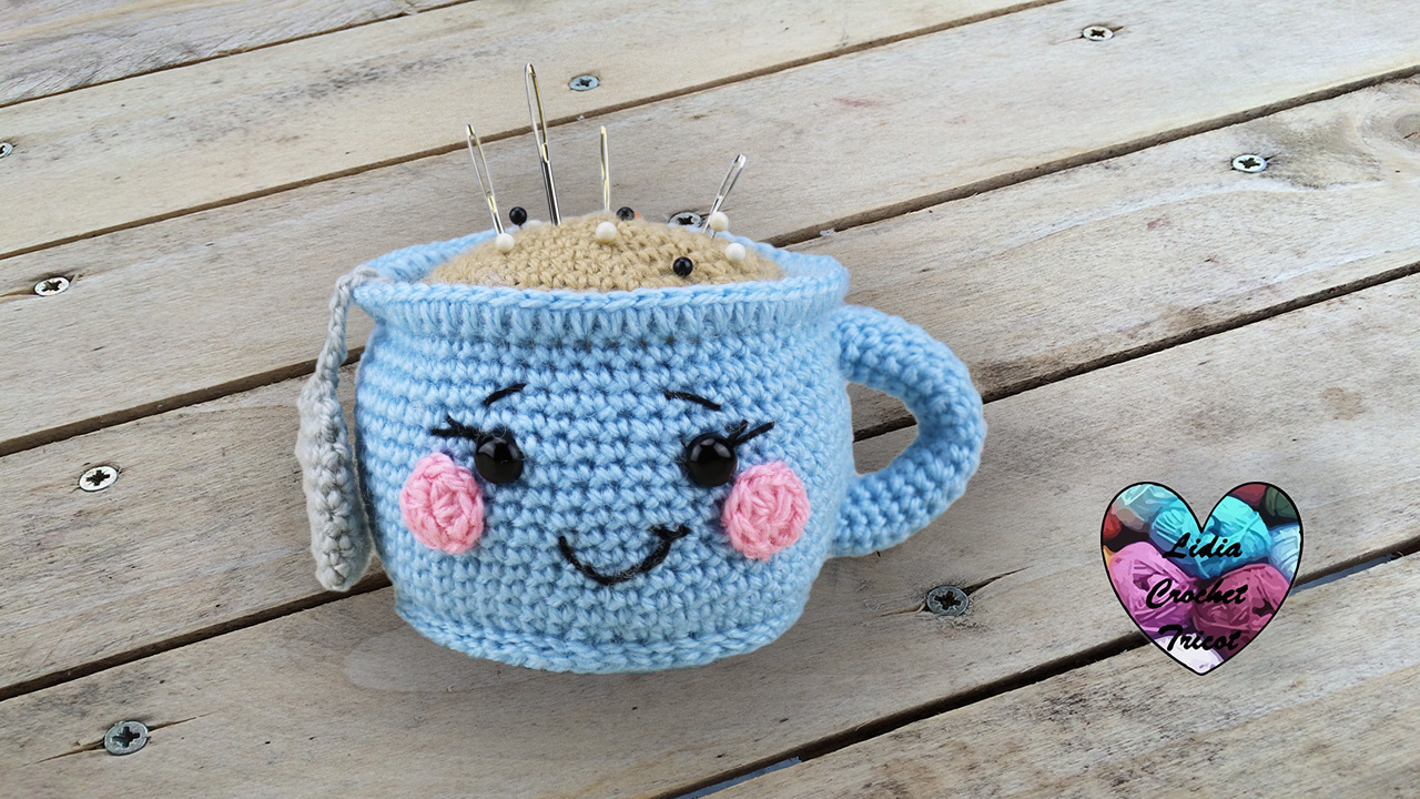 Tasse kawaii crochet tutoriel au crochet pr sent par lidia crochet tricot - Explication pour faire une couverture au crochet ...