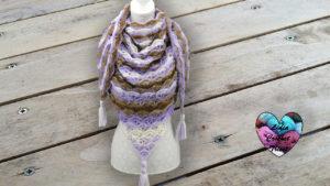 Châle Caprice Lidia Crochet Tricot
