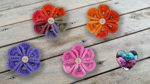 Fleurs wiggly Lidia Crochet Tricot crochet DIY Lidia Crochet Tricot